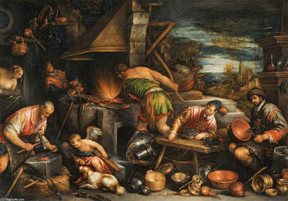 Кузница Вулкана. 1577. Francesco Bassano The Younger